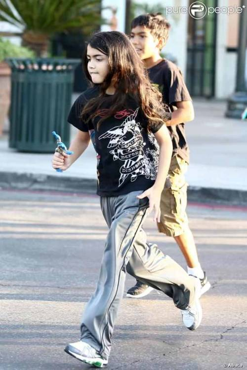 Prince, Blanket and Royal at the movies in Calabasas 9/30/2012.