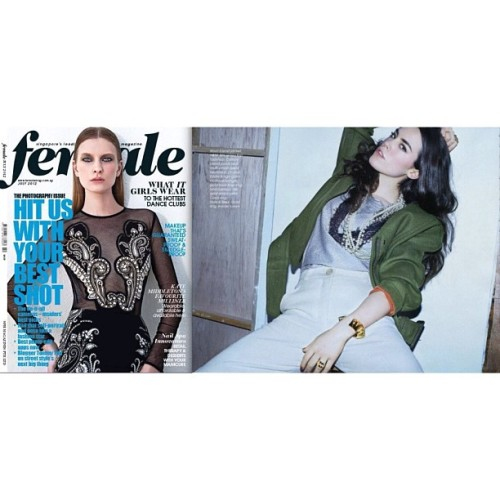 Thank you #female magazine for the #eddieborgo feature!!!!#singapore #instagood #igsg #sgig #instamood #instawow #hideandseeksg #model #fashion #instafashion #ignation #iphonesia #jj #igers #igdaily #brunika #statigram #webstagram (Taken with Instagram at Hide & Seek)