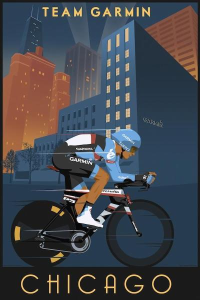 New Ride Argyle poster which will be available in Chicago tomorrow.   retro art + cycling = UNF