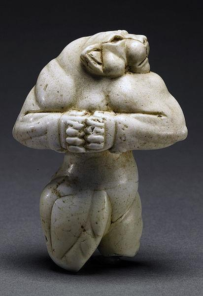 workman:  Guennol Lioness,limestone, 87.5mm.Created approximately 5,000 years ago in the region of ancient Mesopotamia.