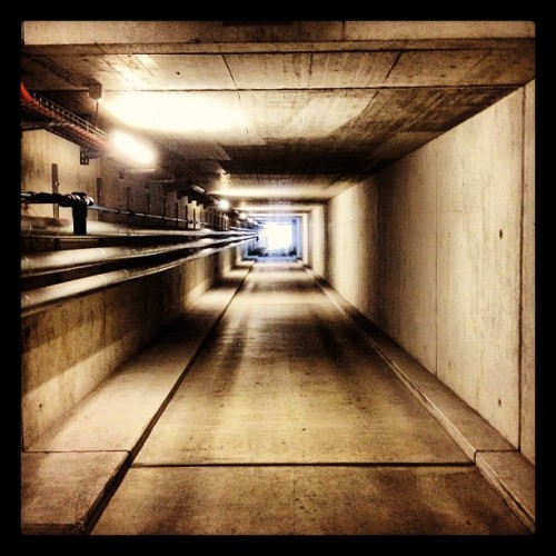 The Light @ The End Of The Tunnel (Wurde mit Instagram in Areal 101 Werkhof Köniz aufgenommen.)