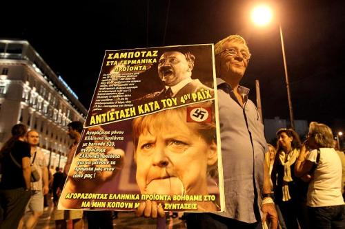 Greeks: not fans of Angela Merkel