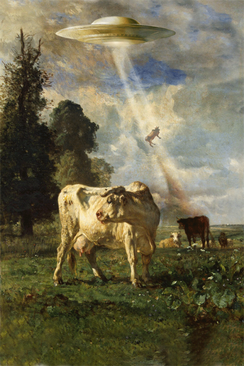 One of Two pieces of Fine Art SpecArt for you this week » Pastoral with Abduction by Zig via reddit.com