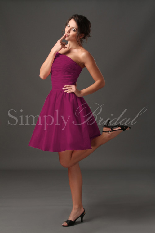 The Asymmetrical One Shoulder Taffeta Dress