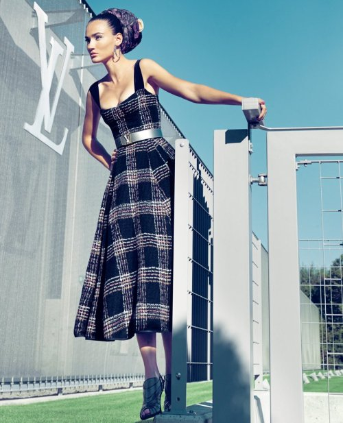 d-elicatebeauty:  Saadet Isil Aksoy in Louis Vuitton for Marie Claire Turkey November 2010
