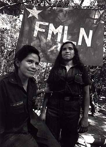 FMLN women guerrillas.