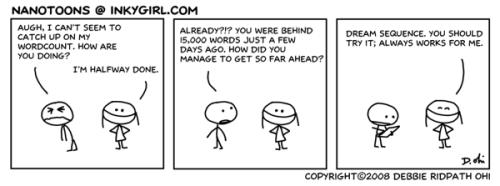 Wordcount catchup, from the NaNoWriMo archives. For upcoming NaNoToons, please Like the NaNoToons Facebook Page: https://www.facebook.com/NaNoToons