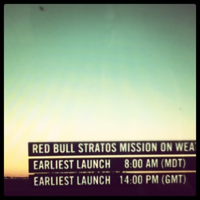 Today, is the day. #stratos #livejump (Tomada con Instagram)