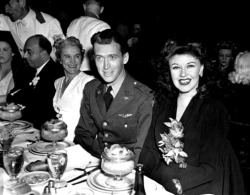 lars134:  Jimmy Stewart and Ginger Rogers at the Academy Awards banquet, February 27, 1942