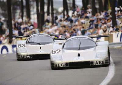 "what we miss … Group Cthe Sauber C9 of Schlesser/Jabouille/Cudini leading that of Mass/Reuter/Dickens - who would eventually win the race - at Le Mans for the 1989 24 Heures du Mans at the old pedestrian tunnel underneath the Busstop chicane in Francorchamps there was graffiti sprayed on the concrete wall saying ""FIA, bring back Group C""every time I see an old Group C picture, I think of this graffiti"