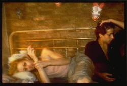 gardenofweeds:  Greer and Robert on the bed, NYC - Nan Goldin (1982)