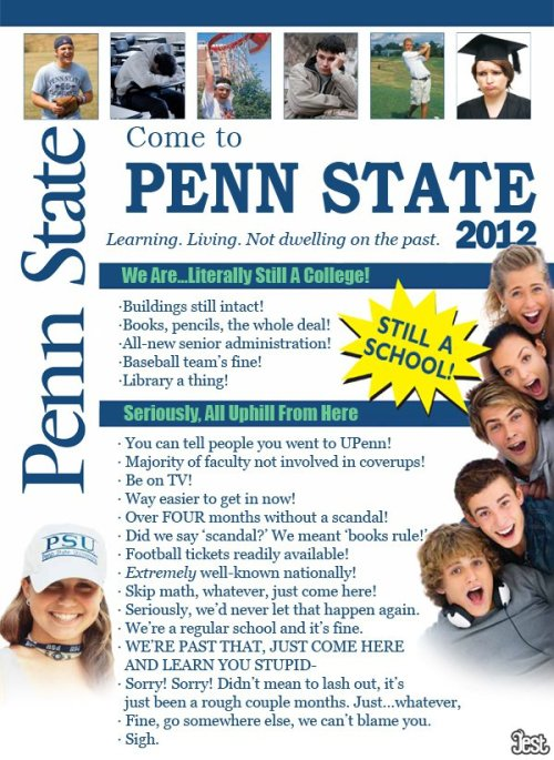 "Penn State's 2012 Brochure: ""We Are Literally Still A College"""