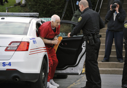 reuters:  FLASH: Former Penn State coach Jerry Sandusky sentenced to 30 to 60 years in prison in child sex abuse case. Watch Reuters.com for more.  This comes one day after a lengthy defense he made from jail.