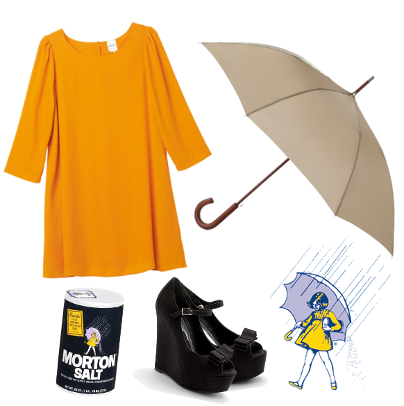 Morton's Salt girl halloween costume.