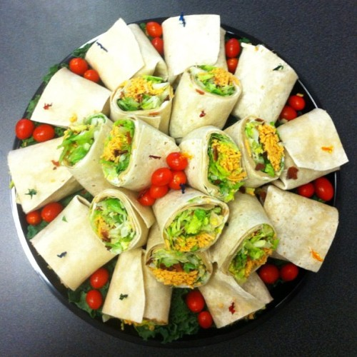 Vegan wraps platter #catering #sandwiches #wraps #vegan #sweetavenue #sweetavenuebakeshop (Taken with Instagram at Sweet Avenue Bake Shop)