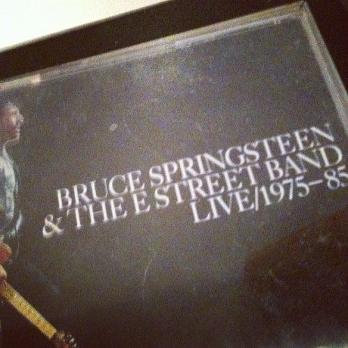 Beating this rainy day w/ tunes & coffee. #Springsteen #Not_Drip_Madison #Jersey_Cliché #Dynamites_in_the_belfry (Taken with Instagram)