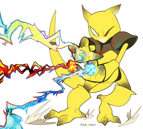 Tri Attack is the coolest attack there is!  [ Chibi Paint (Pokégraph Oekaki), 2h44min. ]