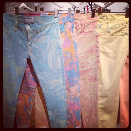 Loosing our marbles over swirled prints @HudsonJeans (Taken with Instagram)