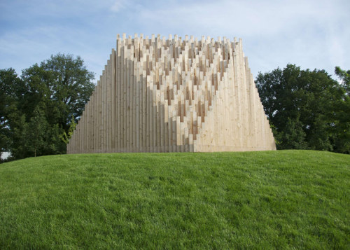 wood in nature…  Khor I temporary theatre by TAAT