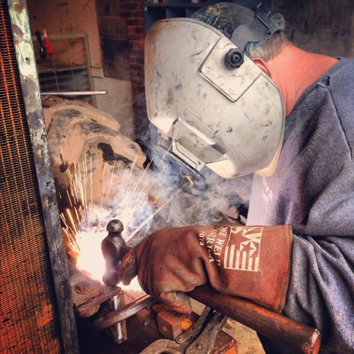 #dad #welding (Taken with Instagram)