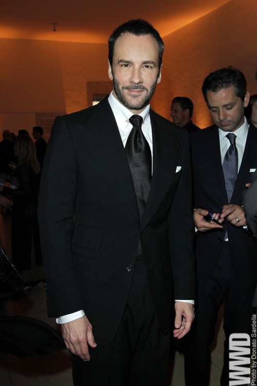 womensweardaily:Tom Ford at Hammer Museum's 10th Annual Gala