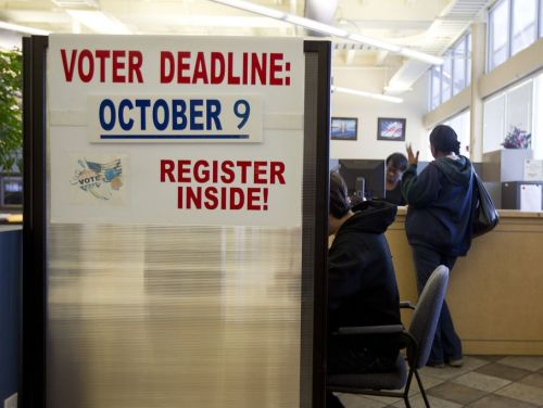 austinstatesman:  Today is the last day to register to vote in Texas  Applications are available at many government offices including libraries, post offices and tax offices. You can also fill out an application online here and mail it in. All Thundercloud Subs locations in Travis County will also have voter registration forms. Photo: Alberto Martinez/American-Statesman