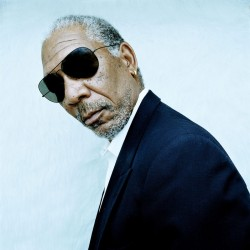 Morgan Freeman by Denis Rouvre.