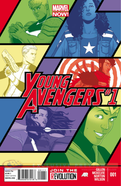 antonyandthex-men:  January 2013 - Kieron Gillen and Jamie McKelvie's Young Avengers #1. I am there!!  OMG, I am so excited about this!  I love the Young Avenger.