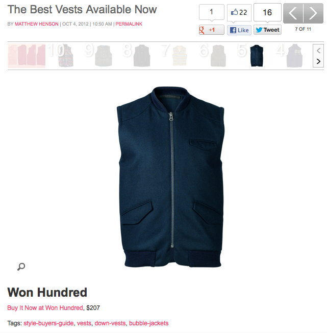 "The only vest you'll need this season, fellas! ""Orville"" by Won Hundred is Complex.com 's favourite. See the rest of the story here."