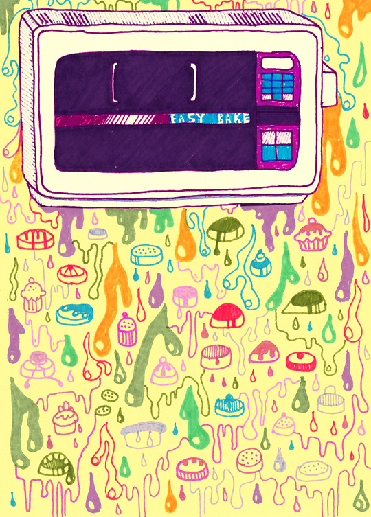 rookiemag:  In Spite of the Easy-Bake Oven  I was not going to let this stupid piece of plastic spell the end of my culinary career.   My illustration for Rookie, 2012.