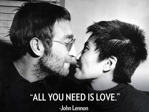 """All You Need is Love."" - The iconic song written by Beatles star John Lennon, who would have turned 72-years-old today"