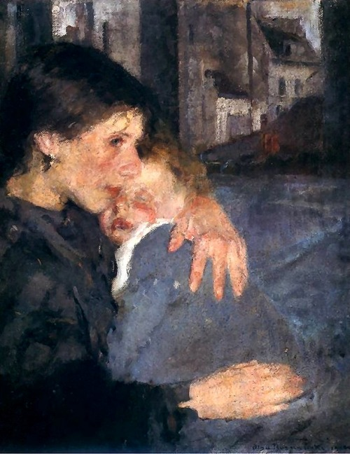 poboh: 1902 Olga Boznanaska (Polish; 1865-1940) ~ Motherhood