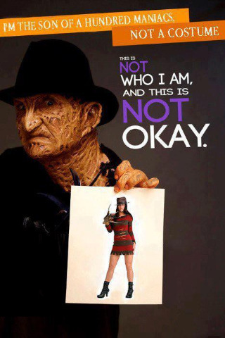 gruesomebeast:  Freddy  If he were real, I'm sure he would have impaled the costume model on his finger razors long ago.