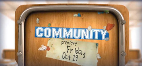 "Bad News Community Fans: NBC has decided to pull the plug on the October 19 debut of the fourth season of Community (Whitney too) and has not scheduled a new premiere date at this time. ""Given the success we've had for the past four weeks – including winning the first week of the season in A18-49 – we've decided to continue to concentrate our promotional strength on our new NBC shows that are scheduled Monday through Wednesday,"" explained NBC in a statement, adding, ""Without having to launch these comedies on Friday at this time, we can keep our promotion focused on earlier in the week."" (Photo via Gawker) source"