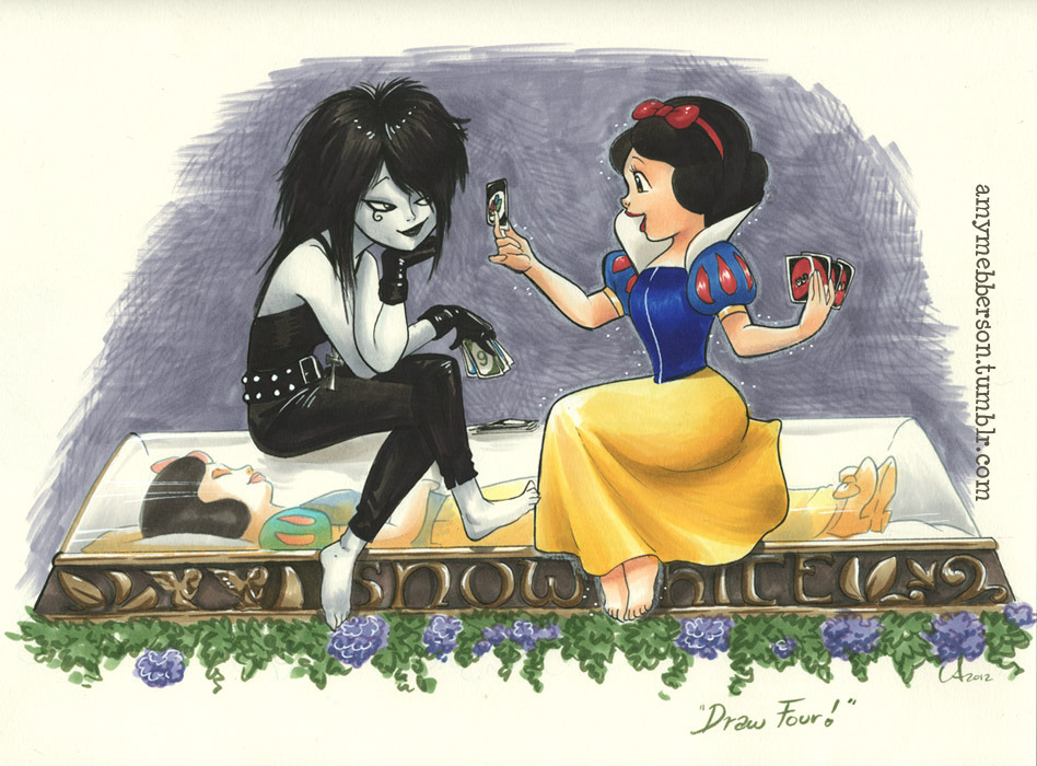 What Snow White did to pass the time while waiting for her Prince. NYCC piece