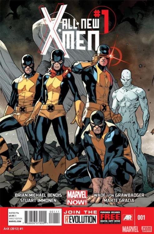 supercomicgirl:  All-New X-Men #1 Writer: Brian Michael Bendis Penciller: Stuart Immonen In Stores:November 07, 2012 The Story: It's a blast from the past as the original five students of Professor X – Cyclops, Marvel Girl, Iceman, Angel and Beast – are plucked from the past and brought to the present. But what they find, the state that their future selves are in and the state of Xavier's dream, is far from the future they dreamed of. And how will the X-Men of the present deal with their past coming crashing forward?  I kind of want to read this, just to see everyone have a 'I become a ass' moment. Miss Marvel will get a very bleak look of her life. My main thought though, since Beast is pre-fur, is; has Iceman learned to turn into ice yet? Or is he still a giant snowball?