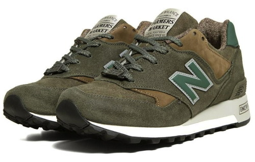 "New Balance M577FMO - Farmer's Market some extra pics of the Green colourway from the New Balance Farmer's Market Pack. some great suede and the tweed lining looks great. click here for more pics Related articles Ronnie Fieg x New Balance 1300 ""Salmon Soles"" (sneakernews.com)"