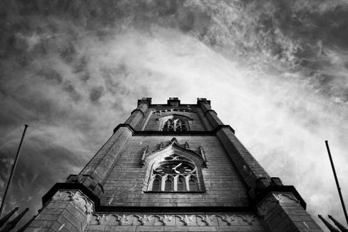 [Flashback:] Today, 2011  Tuam Cathedral _ Look Up _ BW on Flickr.