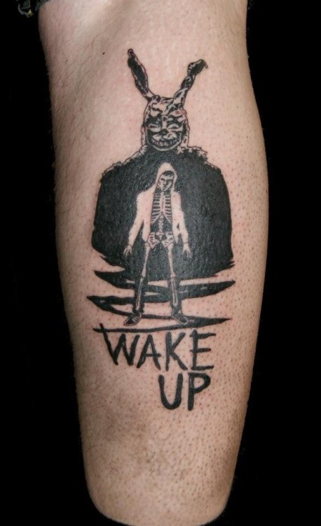 fuckyeahtattoos:  By alex kelly bolton tatt shop uk :]Donnie Darko <3