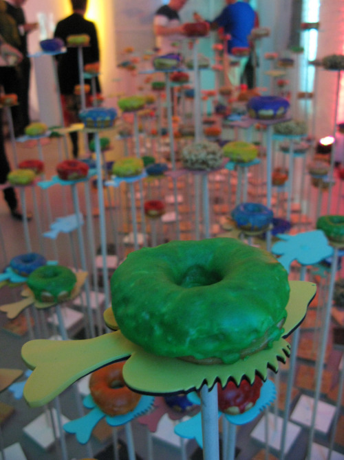 Doughnuts on fish? Yep. Just one of the works of culinary and artistic collaboration on display at the Chicago Artists' Coalition's Starving Artist event last weekend. A Well Fed Evening: CAC's Starving Artist 2012