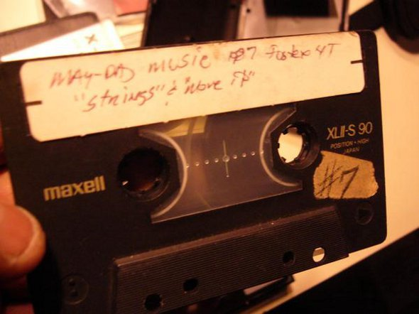 "vinyljunkiesnl:  photo: Master tape of ""Strings Of Life"", Derrick May's 1987 techno classic. Rewind The Classics: Why Are So Many Great Records Getting Remixed? Nice article about 'mixing classics' by JunoPlus   ""A great remix can be as memorable as an original production. There are numerous examples of remixers using their unique signature to turn an original composition into a classic - think the never-ending snare-led climax on Hardfloor's version of Robert Armani's ""Circus Bells"" or the ecstatic pianos, rave whistles and carnival drums that make David Holmes's version of Sabres of Paradise's ""Smokebelch 2"" an acid house anthem. In both instances, the remixers became the story, turning the adequate originals into classics. But what happens when remixers rework classics?"" - Richard Brophy- read full article"