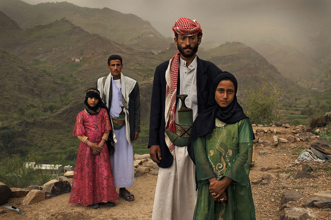 TOO YOUNG TO WED - ©Stephanie Sinclair/VII ©2012In Yemen, two years after the wedding: L to R: Tehani age 8 with her husband Majed age 27, and Ghada age 8 with her husband Saltan age 33. Every three seconds another girl becomes a childbride One in 9 girls globally25,000 marriages a day1 in 3 the girls in developing countries become child brides and bear children before reaching adulthood. Child marriage violates girls' right to education. Young brides are almost al