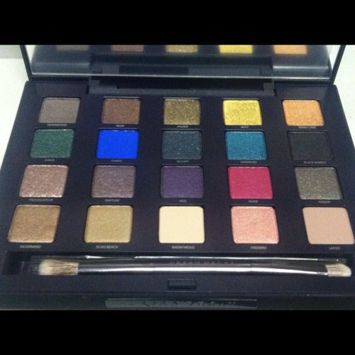 My new palette!!! #makeup #colorful #color #pretty #nf #urbandecay #new #awesome #yesss #justme #smokeyeye #eyes #love #like  (Taken with Instagram)