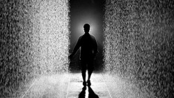 Rain Room, An Interactive Indoor Downpour That Rains Around You Not On You