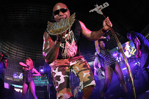 Flo Rida performing a special post-game concert at Marlins Park during Friday Night Live!