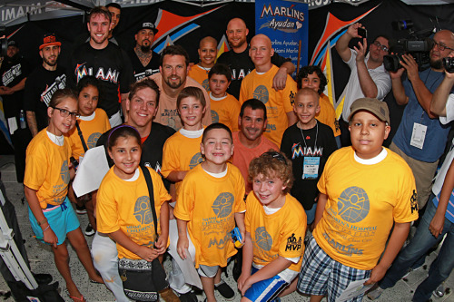 Logan Morrison, David Samson, and the Miami Marlins partnered up with Miami Children's Hospital for the Bald is Beautiful campaign at Marlins Park!