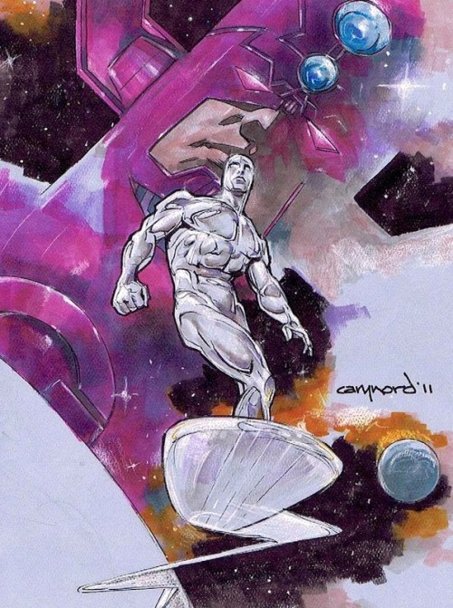 comicblah:  Galactus & the Silver Surfer by Cary Nord
