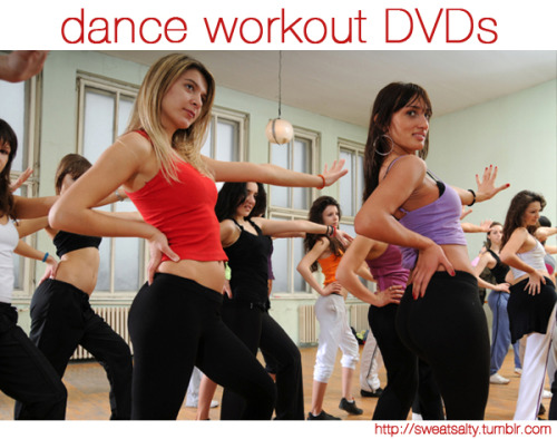 sweatsalty:  Best Dance Workout DVDs! Hip Hop: Dance Off the Inches: Cardio Hip Hop 10 Minute Solution: Hip Hop Dance Mix HIP HOP ABS Package - Fat Burning Cardio, Ab Sculpt, Total Body Burn, Secrets to Flat Abs Ballroom: Dancing With the Stars: Ballroom Buns & Abs Dance with Julianne: Cardio Ballroom Latin: Crunch: Latin Rhythms Dance Fitness for Beginners with MaDonna Grimes: African Beat - Latin Heat Zumba Fitness Brazilian Dance Workout with Vanessa Isaac Misc: Dance Remix with Patrick Goudeau Fitness with the Pros Dancing With the Stars: Dance Body Tone Any more suggestions? Send them here