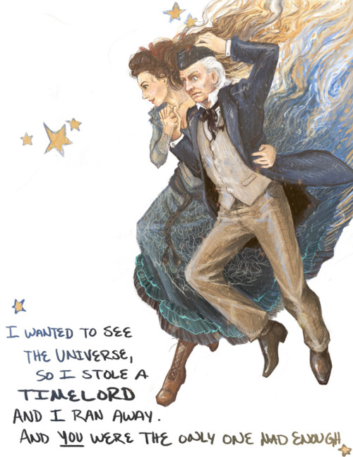 neil-gaiman:  I don't usually reblog DOCTOR'S WIFE Fan art, but this is too good not to, with its beautiful Idris and baffled William Hartnell First Doctor…