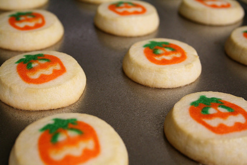 the pillsbury sugar cookies with the shapes on them halloween ghosts pumpkins and bats are simple and delicious pair them with a glass of milk